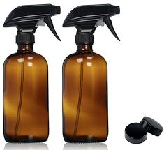 amazon com empty amber glass spray bottles with labels 2 pack