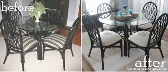 kammy u0027s korner rattan dining chairs makeover image transfer with