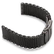 black mesh bracelet images Shark mesh strap strapsco jpg