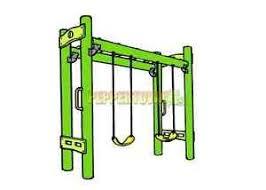 monkey bar and double swing playground kit diy wood backyard kids
