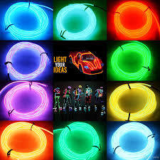 glow lights 2015 hot 5m neon led light glow el wire string rope