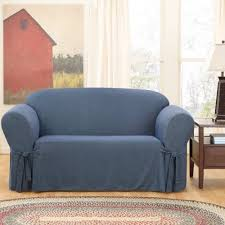 sure fit denim sofa slipcover sure fit denim sofa cover walmart com