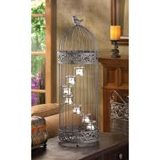 Home Decor Bird Cages Wholesale Wrought Iron Bird Cage Candle Holder Birdcage Staircase