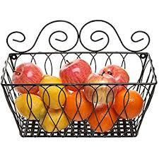 wall fruit basket mygift wall mounted wire fruit dispenser hanging