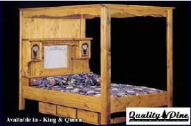 quality pine universal canopy waterbed frame norman flynn