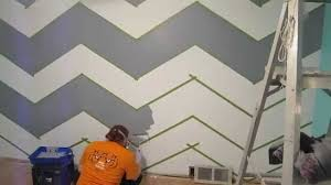 how to paint a zig zag wall chevron pattern youtube