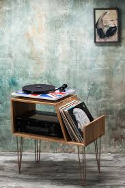record player table ikea vinyl record storage player cabinet media console stand ikea hairpin