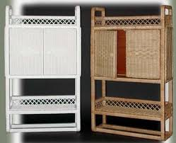 Wicker Bathroom Wall Shelves Traditional Wicker Bathroom Wall Cabinet Cabinets Of Best