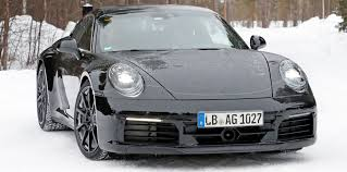 porsche 911 front porsche 911 spied with production body