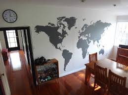 World Map Wall Sticker by Extra Large World Map Office Vinyl Wall Sticker Vinyl Impression