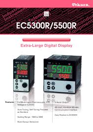 ec5500r ec5300r temperature controller ohkura electric pdf