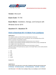 full version 70 740 new questions for passing the 70 740