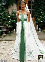 green wedding dress white and emerald green wedding gown wedding