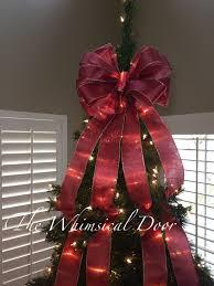 tree bow christmas tree bow tree topper bow whimsical bow tree