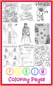 purim puppets coloring pages
