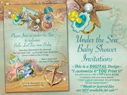 sea baby shower invitation enchanted seas shower