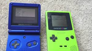 Gameboy Color Gameboy Color Vs Gba Sp Youtube by Gameboy Color