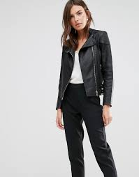 buy biker jacket buy it now reiss shelby biker jacket with side adjusters black