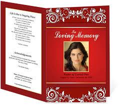 diy funeral programs printable diy funeral bulletins floral theme gorgeous ruby