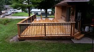 marcus lumber cedar deck with aluminum rail accent