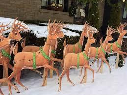 deer yard decorations rainforest islands ferry