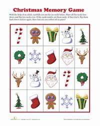 memory game printables for christmas u2013 fun for christmas