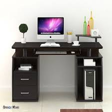 How To Assemble A Computer Desk Computer Desk Pc Table Workstation Monitor Printer Shelf Home