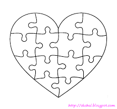 puzzle of life 谜图人生 free heart shaped puzzle template heart