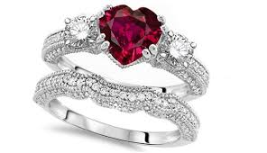 marriage rings sets how to get ruby wedding rings rikof
