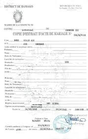 attestation de mariage eregulations mali