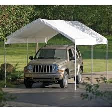Outdoor Carport Canopy by Shelterlogic 10 Ft X 20 Ft Max Ap Canopy