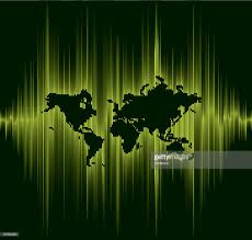 Sound Wave by Sound Wave Line World Map Vector Art Getty Images