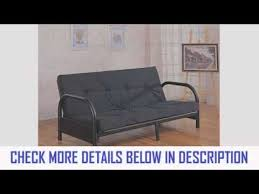 coaster metal full size futon frame with small armrest in black