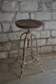 iron and wood adjustable height bar stool nadeau paramus