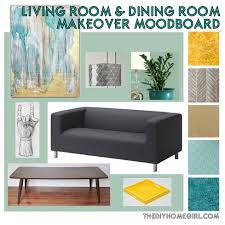 living room u0026 dining room makeover moodboard u2013 the decor guru