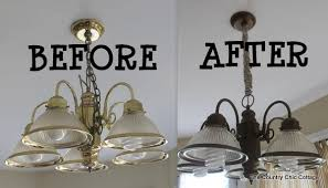 Cheap Kitchen Light Fixtures How To Spray Paint Your Light Fixtures The Country Chic Cottage
