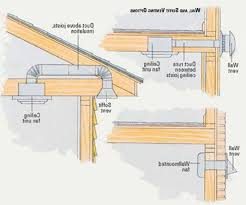 venting exhaust fan through roof dryer vent through roof bathroom exhaust fan venting soffit to