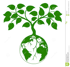 earth tree graphic stock vector image of garden graphic 33237567