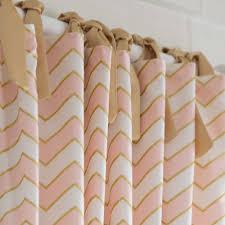 Grommet Chevron Curtains Pale Pink And Gold Chevron Drape Panel Drapery Grommets Modern