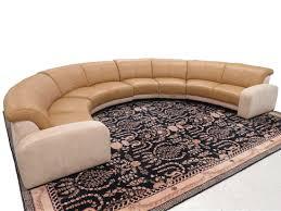 Leather Suede Sofa W Schillig Custom Leather Suede Hemispherical Sectional Sofa