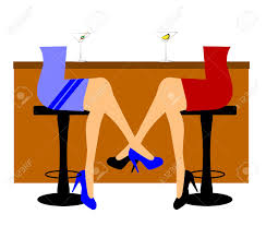 martini olives clipart women sitting at bar with martinis at happy hour royalty free