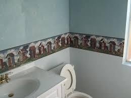 bathroom wallborders wallpaper borders for bathrooms