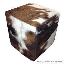 Ottoman Cubes by Fireplace Gorgeous Cube Cowhide Ottoman For Home Furniture Ideas