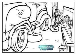 free monster trucks coloring pages u0026 activity sheets mommy mafia