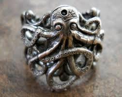 antique octopus ring holder images Silver octopus ring etsy jpg