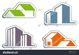 simple symbols real estate form stickers stock vector 57830281