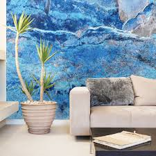 blue slate wall mural brewster home fashions touch of modern blue slate wall mural