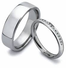 his and hers bridal photo gallery of titanium wedding bands sets his hers viewing 14