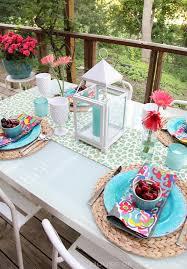 Summer Table Decorations Triyae Com U003d Backyard Table Ideas Various Design Inspiration For