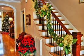 Banister Decorations For Christmas Classy Stunning Christmas Staircase Decorating Ideas For Inspire